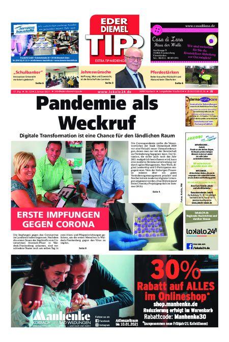 Eder-Diemel Tipp Waldeck vom 02.01.2021