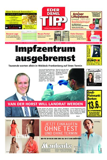 Eder-Diemel Tipp Waldeck vom 12.06.2021