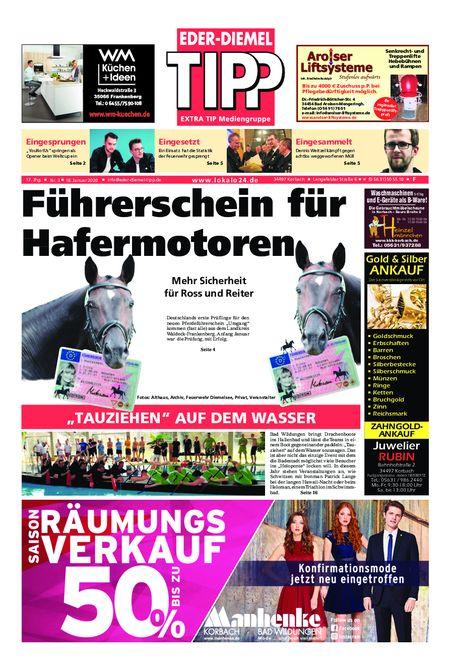 Eder-Diemel Tipp Frankenberg vom 18.01.2020