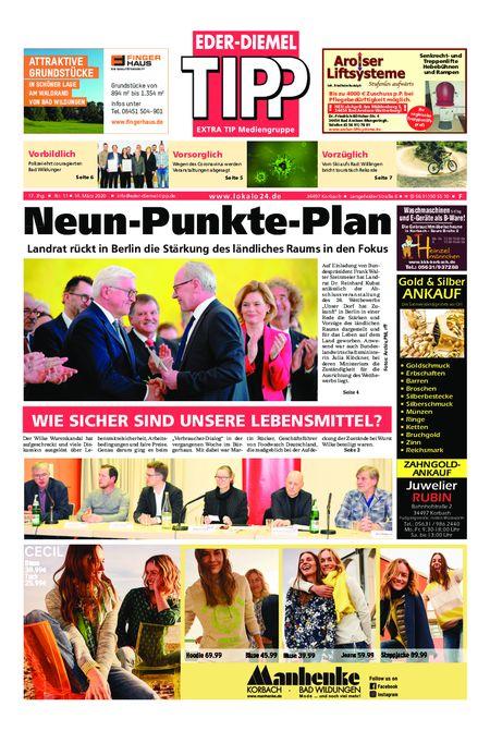 Eder-Diemel Tipp Frankenberg vom 14.03.2020