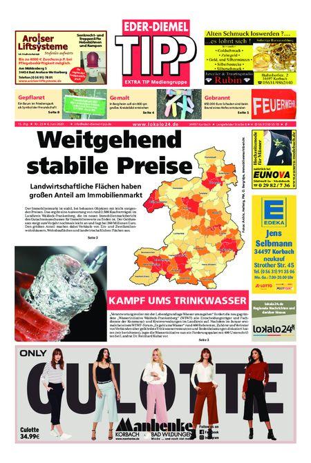 Eder-Diemel Tipp Frankenberg vom 06.06.2020