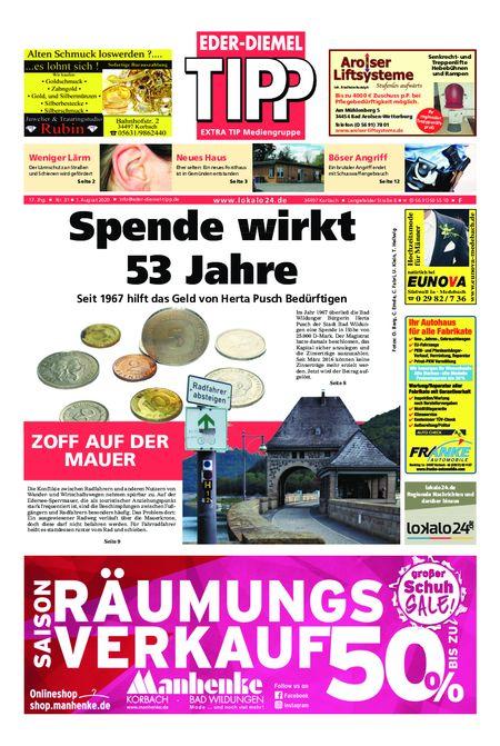 Eder-Diemel Tipp Frankenberg vom 03.08.2020