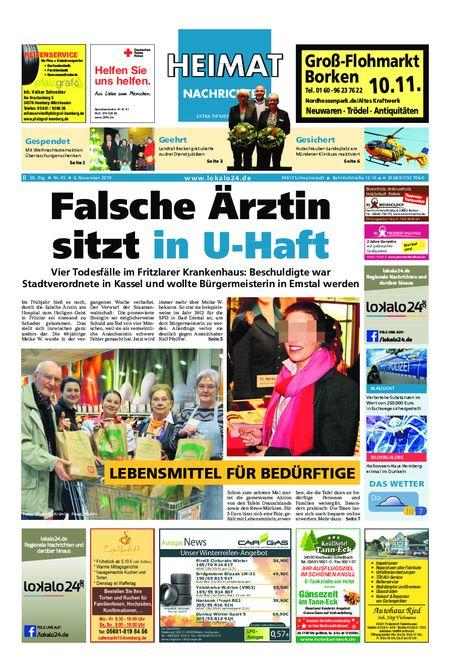 Heimat Nachrichten Borken vom 06.11.2019