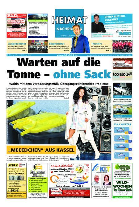 Heimat Nachrichten Borken vom 22.01.2020