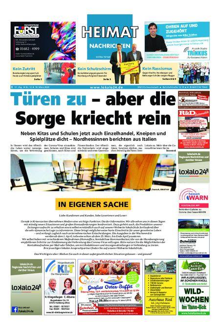 Heimat Nachrichten Borken vom 18.03.2020