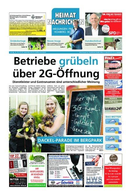 Heimat Nachrichten Borken vom 25.09.2021