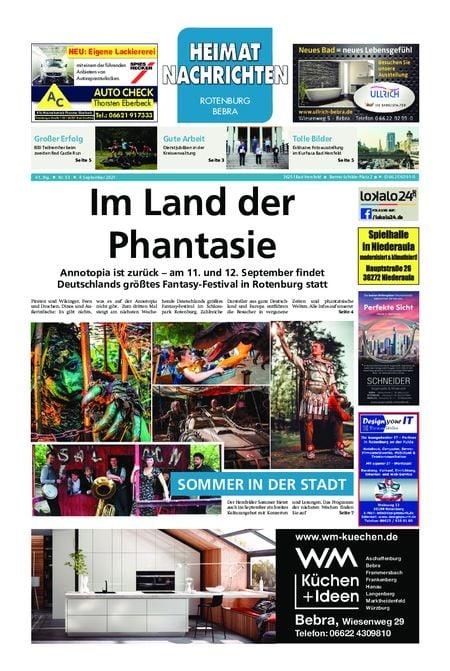 Heimat Nachrichten Fritzlar vom 04.09.2021