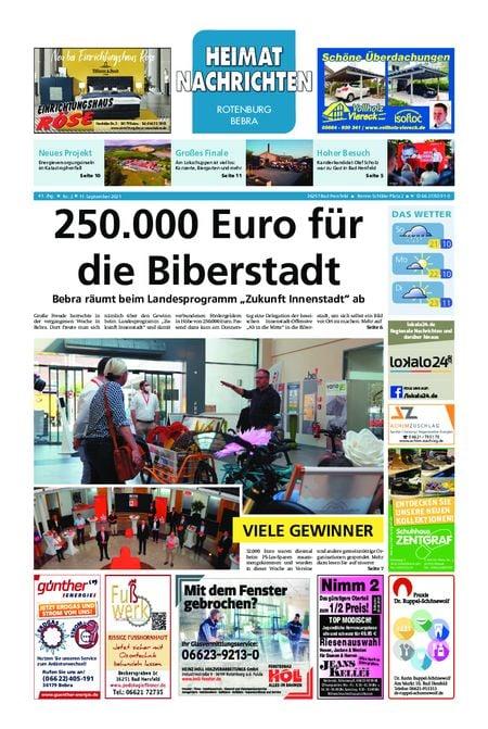 Heimat Nachrichten Fritzlar vom 11.09.2021