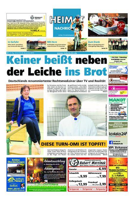 Heimat Nachrichten Melsungen vom 20.11.2019