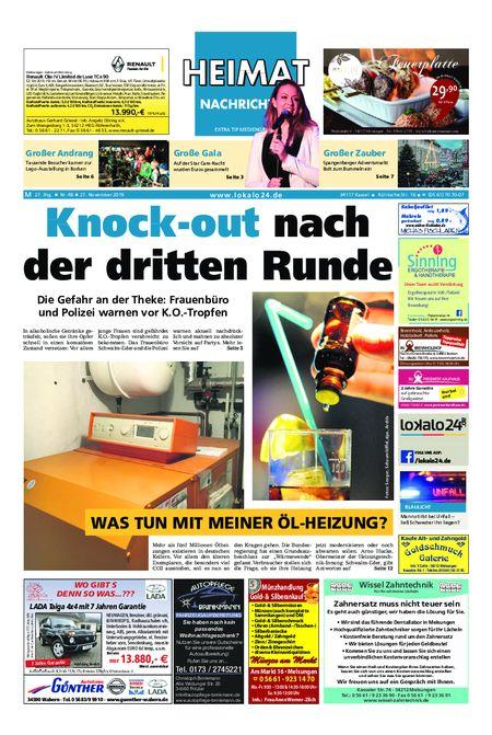 Heimat Nachrichten Melsungen vom 27.11.2019