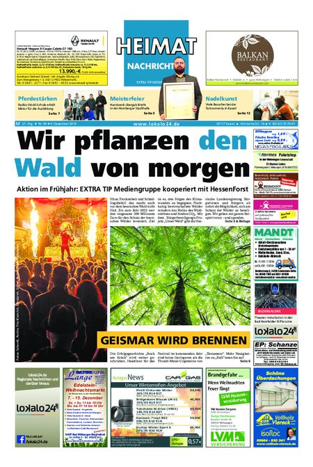Heimat Nachrichten Melsungen vom 04.12.2019