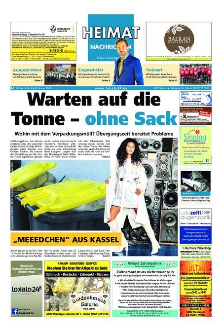Heimat Nachrichten Melsungen vom 22.01.2020