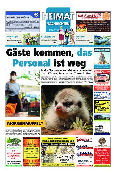 Heimat Nachrichten Melsungen vom 10.07.2021