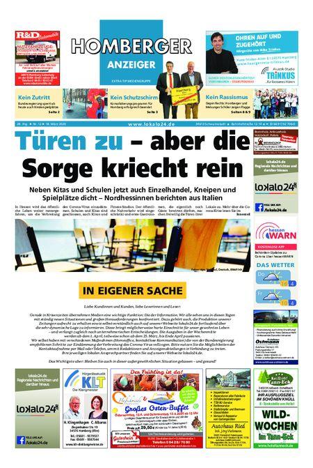 Homberger Anzeiger vom 18.03.2020