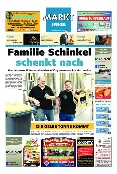 Markt Spiegel Eschwege vom 27.11.2019