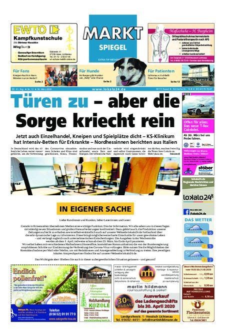 Markt Spiegel Hessisch Lichtenau vom 18.03.2020
