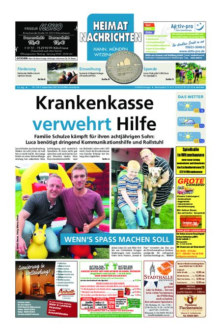 Markt Spiegel Witzenhausen - Bad Sooden Allendorf vom 04.09.2021