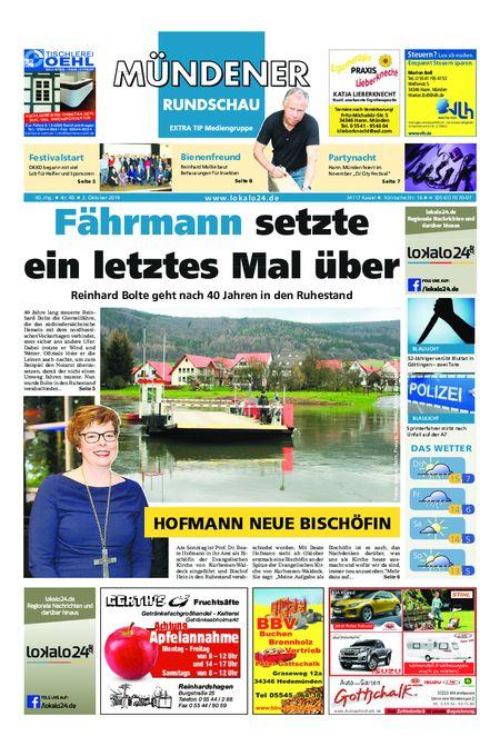 Mündener Rundschau 02.10.19