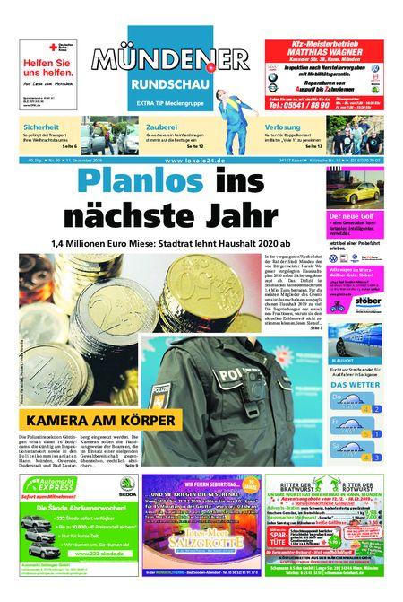 Mündener Rundschau 11.12.19