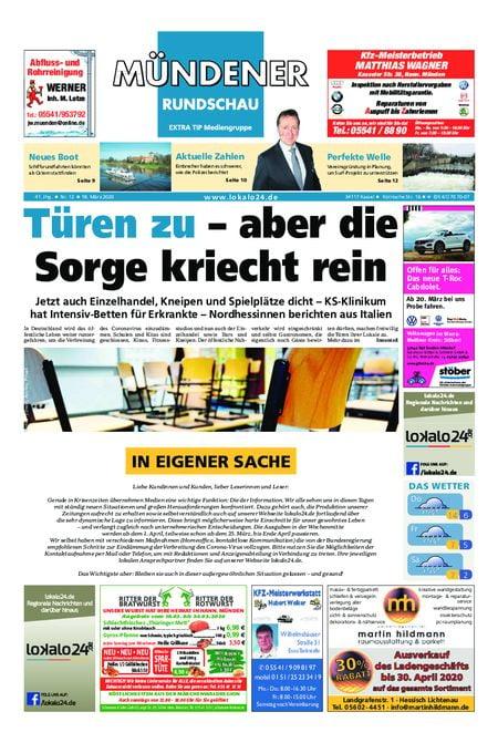 Mündener Rundschau 18.03.20