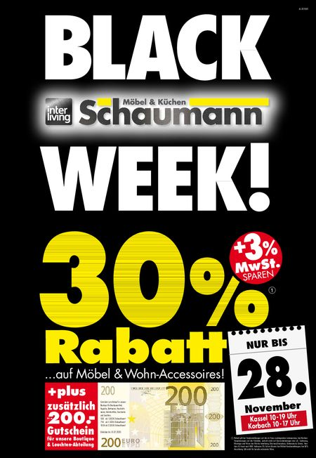 Black Week Schaumann vom 26.11.2020