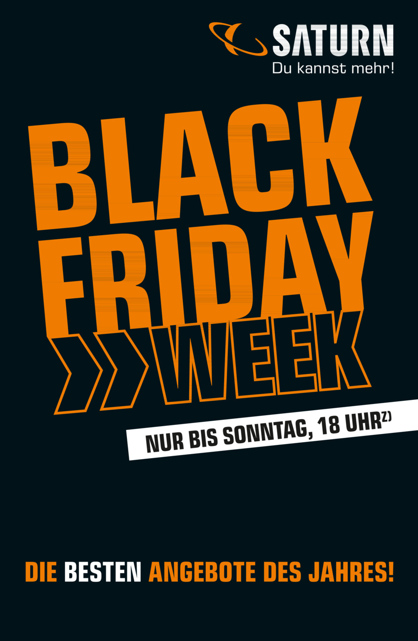 SATURN Black Friday Week vom Montag, 23.11.2020